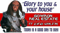 """Brought back a treasure from 4chan: """"Glory to you &  your house  GOWRON  REAL ESTATE  TOOR IG A GOOD DR TO BUY Brought back a treasure from 4chan"""
