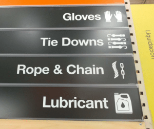 Tumblr, Blog, and Home: Gloves  Tie Downs  Rope & Chain  Lubricant loloftheday:  Home Depot: Fifty Shades of Orange