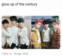 #bts #jimin #jungkook #jhope 😏: glow up of the century  TA  7:38 p. m. 26 ago. 2018 #bts #jimin #jungkook #jhope 😏