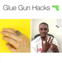 Im starting to hate these hacks 🤦🏾‍♂️😂 • • For more videos follow @kmoorethegoat @kmoorethegoat: Glue Gun Hacks  CRAFTS Im starting to hate these hacks 🤦🏾‍♂️😂 • • For more videos follow @kmoorethegoat @kmoorethegoat