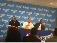 """Basketball, Golden State Warriors, and Nelly: gMBA  OP"""" Some familiar faces at the podium in Oracle today. Stephen Jackson on Don Nelson: """"If I saw Nelly today, we'd pop a bottle open just like old times."""" (via twitter-Mr_KevinJones) Legend"""