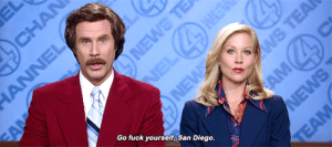 Anchorman, Ron Burgundy, and Tumblr: Go fuck yourself, San Diego aliciavikander:Anchorman: The Legend of Ron Burgundy (2004) dir. Adam McKay