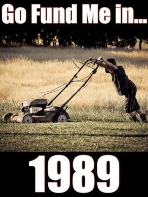 Memes, 🤖, and Fund Me: Go Fund Me in  1989
