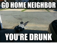 go home: GO HOME NEIGHBOR  YOU'RE DRUNK  quick meme com