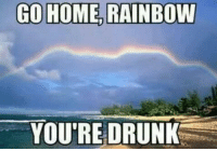 Go Home, Rainbow You're Drunk 😅😅😅: GO HOME, RAINBOW  YOU'RE DRUNK Go Home, Rainbow You're Drunk 😅😅😅