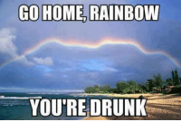 GO HOME RAINBOW  YOU'RE DRUNK King Humor