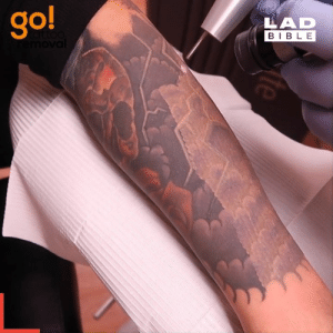 Dank, Bible, and Tattoo: go!  LAD  attoo  emoval  BIBLE  Mte I could watch these tattoo removals all day... 👏  GO! Tattoo Removal