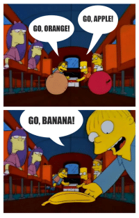 Apple, Be Like, and Funny: GO, ORANGE!  GO, BANANA!  GO, APPLE! Betting on horses with long odds be like...