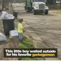 "Family, Friends, and Growing Up: Go!  This little boy waited outside  for his favorite garbagemen my mailman in the neighborhood i grew up in "" Bob Golden"" was one of my best friends growing up , I'd meet him half way down the block and walk with him until he got to my house , as an adult i invited him to my wedding over family members because he treated with kinder and with more respect than any of them #keepthekidsdeporttheracist Repost @undocumedia ・・・ 👦🏼🍪🙋🏿‍♂️🚛💚💛 Repost @ronniesidneyii: ""This video got me tearing up a bit because kids don't know and understand prejudice and racism. The little boy just enjoys trash trucks and the brother who comes by each week to do his job. That's love. I hope and pray this young man keeps his youthful spirit."""