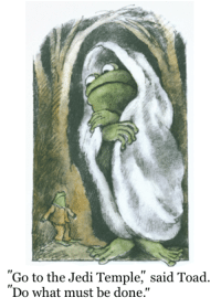 "Jedi, Meme, and Good: ""Go to the Jedi Temple,"" said Toad.  Do what must be done.""  Ir <p>Frog and Toad, good meme material? via /r/MemeEconomy <a href=""http://ift.tt/2rhRWRh"">http://ift.tt/2rhRWRh</a></p>"