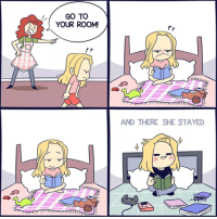 9gag, Memes, and Comics: GO TO  YOUR ROOM!  AND THERE SHE STAYED When your childhood punishment turns into your adulthood hobby. By @lollibeepop comics 9gag