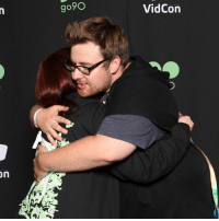 i met tomska for the very first time yesterday (vidcon thurs. 6-22-17) and i'm genuinely not okay, i started bawling after i saw him. he's such a sweet guy :'): go9O  VidCon i met tomska for the very first time yesterday (vidcon thurs. 6-22-17) and i'm genuinely not okay, i started bawling after i saw him. he's such a sweet guy :')