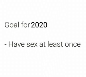 meirl: Goal for 2020  Have sex at least once meirl