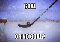 Hockey, Memes, and 🤖: GOAL  ref logic  OR NO GOALP What do you think? Zoom in too see more clearly. REMEMBER: the puck has to be ALL the way across the goal line nhl hockey