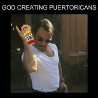 Goya, Memes, and 🤖: GOD CREATING PUERTORICANS itstuesday tuesday tuesdays tgit fbt tbt saltbae nusret puertorico 🇵🇷 puertoricanmami foodporn foodlove mood puertoricansbelike foodlover foodlovers belike this was God creating puertoricans 👀👆🏻😂😂😂😂 con adobo Goya for that extra flavor that runs through our vains 😈