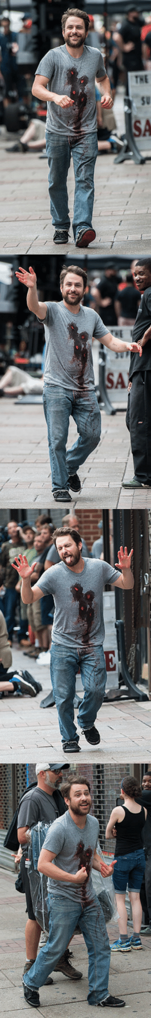"god-hole: ganondilf:  hellyeahcharlieday:  Charlie Day is seen filming scenes of season 12 of It's Always Sunny In Philadelphia sitcom on July 1, 2016 in Philadelphia, Pennsylvania  I love how any other show these set pics would be the biggest spoiler ever but Sunny fans are like ""lol guess he gets shot to death, how are they gotta get outta this one ha ha!""   : god-hole: ganondilf:  hellyeahcharlieday:  Charlie Day is seen filming scenes of season 12 of It's Always Sunny In Philadelphia sitcom on July 1, 2016 in Philadelphia, Pennsylvania  I love how any other show these set pics would be the biggest spoiler ever but Sunny fans are like ""lol guess he gets shot to death, how are they gotta get outta this one ha ha!"""