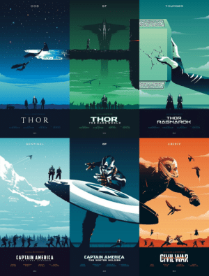 fangirlxbabies:  I love this 🌌 Thor and Captain America trilogy posters by Rico Jr  👏: GOD  O F  THUNDER  KENNTH BRANAGH  DIRECTEO Y ALAN TAYLOR  THOR  THOR  THOR  RAGNAROH  THE D ARK W OR L D  HEMSWORTH  HIDDLESTON  PORTMAN  HEMSWORTH  HIDDLESTON  PORTMAN   SENTINEL  OF  LIBERTY  CIMEWAR  CAPTAIN AMERICA  CAPTAIN AMERICA  THE WINTER SOLDIER  EVARS  S TAI fangirlxbabies:  I love this 🌌 Thor and Captain America trilogy posters by Rico Jr  👏