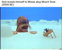 "God, Http, and Moses: God reveals himself to Moses atop Mount Sinai  (2000 BC) <p>Any potential from this one? via /r/MemeEconomy <a href=""http://ift.tt/2xuQauX"">http://ift.tt/2xuQauX</a></p>"