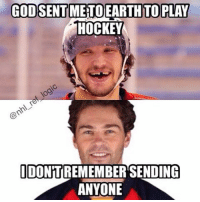 Birthday, Hockey, and Memes: GODSENTMETO EARTH TO PLAY  HOCKEY  IDONTTREMEMBER SENDING  ANYONE Happy birthday to the ageless one, Jaromir Jagr! 45 years young today 🎂 nhl hockey floridapanthers jagr ovechkin