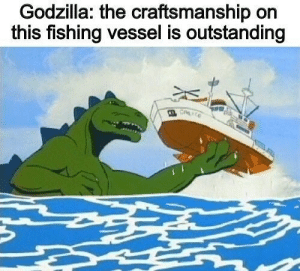 Quite interesting and fascinating: Godzilla: the craftsmanship on  this fishing vessel is outstanding  CALICE Quite interesting and fascinating