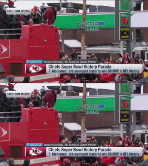Goggles on.  @PatrickMahomes is LIVING. 🙌 (via @SpecSportsKC)  📺: #SBLIV Championship Parade on @nflnetwork https://t.co/c80Pj4ZZdq: Goggles on.  @PatrickMahomes is LIVING. 🙌 (via @SpecSportsKC)  📺: #SBLIV Championship Parade on @nflnetwork https://t.co/c80Pj4ZZdq