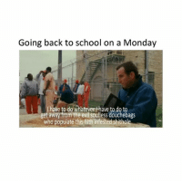 Going back to school on a Monday  have to do whatever thave to do to  get away from the evil soulless douchebags  who populate this filth infested shithole [LANGUAGE] Sorry for bad subtitles 😝 school sux funnymemes textpost textposts funnythings funnytextposts funnystuff beautiful comedy haha funny happy love smile me lol meme memes memesdaily