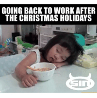 GOING BACK TO WORK AFTER  THE CHRISTMAS HOLIDAYS