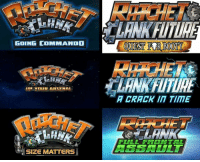 GOING COMMANDO  YOUR ARSENAL  SIZE MATTERS  A CRACK IIT TIME  FULL FRONTAL That awkward moment when you realize most of the Ratchet & Clank titles are sex jokes... https://t.co/MNdI77Z2wr