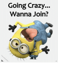 Join Minion Jokes for more <3: Going crazy.  Wanna Join? Join Minion Jokes for more <3