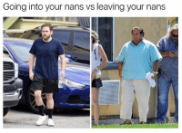 British, One, and Leaving: Going into your nans vs leaving your nans @studentproblems is one of my favs rn🤣