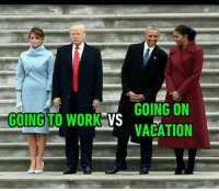 Mood on Monday morning vs Friday night. Follow @9gag @9gagmobile 9gag inauguration trump obama holiday freshman relieved: GOING ON  GOING TO WORK  VS  VACATION Mood on Monday morning vs Friday night. Follow @9gag @9gagmobile 9gag inauguration trump obama holiday freshman relieved