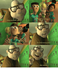 School, Cartoon, and Cartoons: Going somewhere, students?  to the  school tanning salon  S  We're on our way  to  The school tanning salon?  Well, have fun. More Jimmy Neutron!  Cartoon Shitposts
