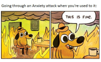Anxiety, Anxiety Attack, and Fine: Going through an Anxiety attack when you're used to it  THIS IS FINe.  OC This is fine