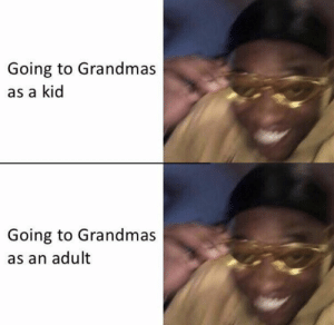 Memes, 🤖, and Adult: Going to Grandmas  as a kid  Going to Grandmas  as an adult https://t.co/2w6Y4KLrPj