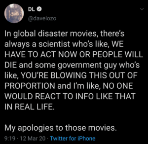 Going to rewatch all those disaster films now: Going to rewatch all those disaster films now