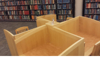 Dank, Desk, and Library: Going to the university library for years and I just noticed the desks are shaped like friendship windmills.