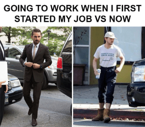 First Day on the Job vs 1 Year on the Job.: GOING TO WORK WHEN I FIRST  STARTED MY JOB VS NOW  PENNSYLVANIA  SENIOR GAMES  fonanod First Day on the Job vs 1 Year on the Job.