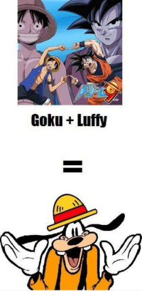 Goku and Luffy  Goku + Luffy 49d7f3bd07c6