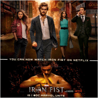 Memes, 🤖, and Mcu: GOLD  CHINE  YOU CAN NOW WATCH IRON FIST ONNETFLIX  N E  OR  N A L  S E  E S  MARTEL  IRAN FIS  ALL EPISODES  NETFLI  NOW STREAMING  IGI DC. MARVEL UNITE Who's going to begin Binge Watching Marvel's ' IRONFIST' Today on Netflix ! 😱 Screw The Reviews, I'm going to watch this with my own perspective ! I have a feeling I'm gonna get Hooked onto Another MCU Netflix Show…I'll make a Review when I complete the Series ! 👊 MarvelCinematicUniverse 💥 FinnJones