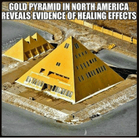 "Incredible Man-Made GoldPyramid In NorthAmerica Reveals Evidence Of Healing Effects. This incredible structure is the largest 24-karat gold-plated object in North America. What is astonishing about the man-made pyramid is that it has apparently revealed evidence of healing effects. People have observed that plants grew three times as fast in the pyramid than outside it. They also say that the water in affected by the pyramid's power and therefore has unique properties that are good for all living-beings. The six-story-tall, 17,000-square-foot Gold Pyramid House was built in 1977 by Jim and Linda Onan as a private residence for his family in Wadsworth, Illinois. Located on an island and surrounded by a giant moat, the Pyramid House has many remarkable features, including a 50-foot statue of King Tut, a metal palm tree and, a four car garage topped by three smaller pyramids. Jim Onan who always admired Egyptian culture was captivated by the theory that pyramids at Giza generate energy. According to RussMichael, author of the book "" HealingPyramidEnergy"", ""top scientists in Russia started more than two decades ago doing serious scientifically tested and documented pyramid research and development. They based their work on Dr. PatrickFlanagan's best selling book, Pyramid Power, which disclosed to the world how to use pyramids in the early 1970s. The Russian scientists did indeed unveil a host of astounding, powerful and naturally beneficial healing energies and fields within and around various heights and differently angled pyramid structures that serve new and already known major Earth-changing purposes. "" JimOnan's interest in the theory of ""pyramid power"" led him to build small pyramids around his home and people realized that when they put their hands above this small pyramid they felt a weird sensation, a vortex of energy coming from the top of the Pyramid. Onan's son who was a botanist suggested that they should grow plants inside the Pyramid and so they did. Their experiment revealed that plants grew 3 times faster inside the pyramid. 4biddenknowledge @AnnunakiHistory: GOLD PYRAMID IN NORTH AMERICA  REVEALS EVIDENCEOFHEALING EFFECTS Incredible Man-Made GoldPyramid In NorthAmerica Reveals Evidence Of Healing Effects. This incredible structure is the largest 24-karat gold-plated object in North America. What is astonishing about the man-made pyramid is that it has apparently revealed evidence of healing effects. People have observed that plants grew three times as fast in the pyramid than outside it. They also say that the water in affected by the pyramid's power and therefore has unique properties that are good for all living-beings. The six-story-tall, 17,000-square-foot Gold Pyramid House was built in 1977 by Jim and Linda Onan as a private residence for his family in Wadsworth, Illinois. Located on an island and surrounded by a giant moat, the Pyramid House has many remarkable features, including a 50-foot statue of King Tut, a metal palm tree and, a four car garage topped by three smaller pyramids. Jim Onan who always admired Egyptian culture was captivated by the theory that pyramids at Giza generate energy. According to RussMichael, author of the book "" HealingPyramidEnergy"", ""top scientists in Russia started more than two decades ago doing serious scientifically tested and documented pyramid research and development. They based their work on Dr. PatrickFlanagan's best selling book, Pyramid Power, which disclosed to the world how to use pyramids in the early 1970s. The Russian scientists did indeed unveil a host of astounding, powerful and naturally beneficial healing energies and fields within and around various heights and differently angled pyramid structures that serve new and already known major Earth-changing purposes. "" JimOnan's interest in the theory of ""pyramid power"" led him to build small pyramids around his home and people realized that when they put their hands above this small pyramid they felt a weird sensation, a vortex of energy coming from the top of the Pyramid. Onan's son who was a botanist suggested that they should grow plants inside the Pyramid and so they did. Their experiment revealed that plants grew 3 times faster inside the pyramid. 4biddenknowledge @AnnunakiHistory"