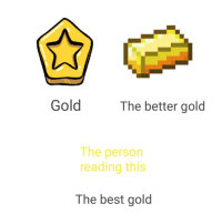 Best, Gold, and Invest: Gold  The better gold  The person  reading this  The best gold invest into this template! via /r/MemeEconomy https://ift.tt/2SZC3sr