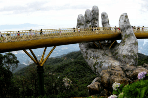 Vietnam, Bridge, and Golden: Golden Bridge, Vietnam