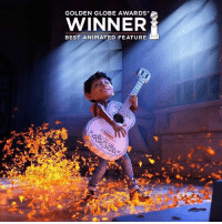 Coco just won Best Animated Feature! ❤️🙌🏽 . goldenglobeaward goldenglobes rememberme DiaDeLosMuertos: GOLDEN GLOBE AWARDS  WINNER  BEST ANIMATED FEATURE Coco just won Best Animated Feature! ❤️🙌🏽 . goldenglobeaward goldenglobes rememberme DiaDeLosMuertos
