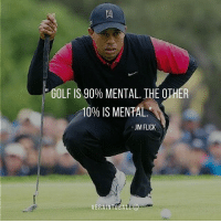 How much time do you spend working on the mental side of the game?? mindsetmonday braintoball headspeedgolf golfmindset: GOLF IS 90% MENTAL. THE OTHER  10% IS MENTAL  JIM FLICK How much time do you spend working on the mental side of the game?? mindsetmonday braintoball headspeedgolf golfmindset