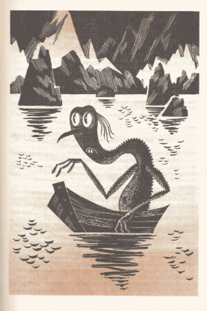 Best, Hobbit, and Astonishing: Gollum as seen by Soviet artist Mikhail Belomlinsky(1976). He's best known for his astonishing illustrations for the Soviet edition of The Hobbit