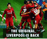 The old Liverpool 😍🙌: GOMZ  Standard  Chartered  THE  FOOTBALL  THE ORIGINAL  LIVERPO0L IS BACK  EC The old Liverpool 😍🙌