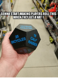 DnD, Will, and You: GONNASTART MAKING PLAYERS ROLLTHIS  WHEN THEYGET ANAT1  BICYCES CL Bwahahah. My DM'ing will PUMP you UP!  - Leopold the Just