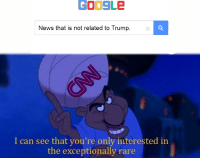 """News, Http, and Trump: GOO9LE  News that is not related to Trump.  a,  I can see that you're only interested in  the exceptionally rare <p>Trump Central News Network via /r/MemeEconomy <a href=""""http://ift.tt/2GKxMDp"""">http://ift.tt/2GKxMDp</a></p>"""