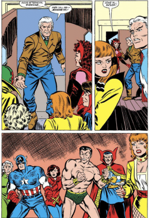 This is basically every awkward Family Reunion summed up in three panels: GOOD AFTERNOON,  EVERYONE..  COME IN...  FATHER  MEN CALL ME-  MAGNETO  A This is basically every awkward Family Reunion summed up in three panels