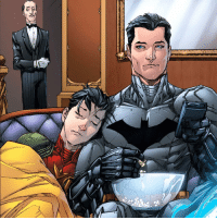 "Memes, Oracle, and Moors: Good afternoon Gothamites and happy NationalPopcornDay! Here is a touching panel of Jason Todd's fondest memory from Red Hood and the Outlaws (Vol 1) 3 from January 2012 illustrated by Scott Lobdell @ScottyLobdell, Kenneth Rocafort @Mitografia_kr and Blond @BlondtheColorist! Today we'll continue ""50 Tales for 50 Years: A Celebration of Barbara Gordon"" with the aftermath of Alan Moore's 'Batman: The Killing Joke' and the beginning of her identity of Oracle! Thanks for following and we will have more History of the Batman soon! ✌🏼️💙💛📖🍿"